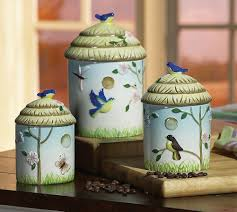 birdhouse ceramic kitchen canisters set birdhouse canister set on