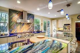 eclectic kitchen ideas eclectic kitchen with onyx counters quartz counters in valley