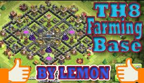 big clash of clans base clash of clans th8 farming base big castle youtube