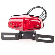 motorcycle license plate frame with led brake light led tail light with license plate bracket chrome