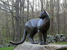 mountain lion statue cast bronze mountain lion by daniel murray