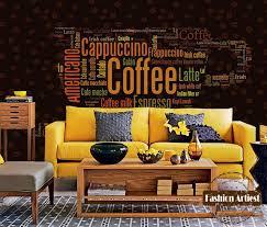 wandbild schlafzimmer custom vintage kaffee tapete wandbild kaffee typ brief kaffeetasse
