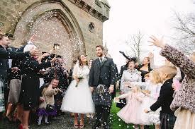 scottish rustic winter wedding bride in tea length audrey hepburn
