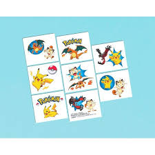 pokemon pikachu tattoos 8ct u2013 dakota party