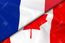 Image Of French Flag Flags Of France And Canada Divided Diagonally 3d Render Of