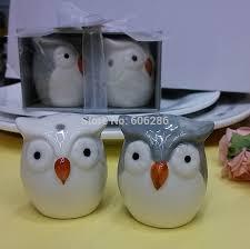 unique owl ceramic salt and pepper shakers souvenirs wedding