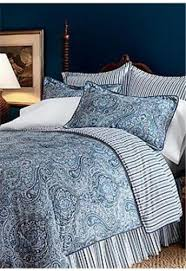 Ralph Lauren Comforter King Ralph Lauren Townsend Paisley Blue 6p King Comforter Set New 1st