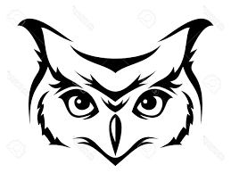 best owl stencil vector library free vector art images