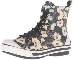 womens boots rocket amazon com rocket s rainy midnight floral rubber printed