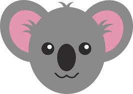 cute koala face free clip art