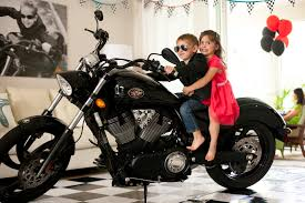 party reveal motorcycle birthday party