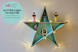 how to build a lighted diy shelf thats for ornaments
