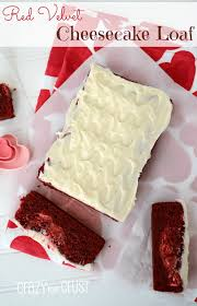 red velvet cheesecake loaf crazy for crust