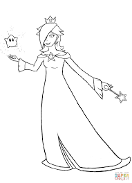 mario bros rosalina coloring free printable coloring pages