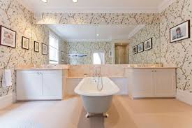 bathrooms ideas uk floral wallpaper bathroom ideas tiles furniture accessories