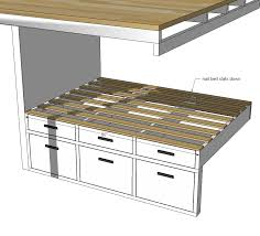 Plans For A Platform Bed With Storage Drawers by Ana White Tiny House Loft With Bedroom Guest Bed Storage And