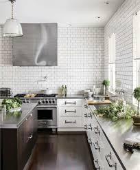 Subway Tile Backsplash For Kitchen White Kitchen With Subway Tile Backsplas Home Design Ideas