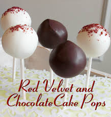 red velvet and chocolate cake pops