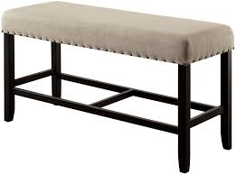 sania ii antique black counter height bench from furniture of