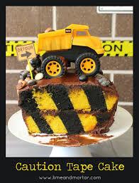 lime u0026 mortar caution tape cake tutorial birthday party ideas