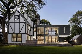 renovation of a tudor style residence that is preserving its