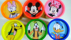 play doh learn colors mickey mouse minnie mouse daisy duck