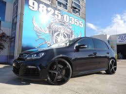 black volkswagen golf golf black rims
