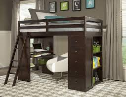 wooden loft bunk bed with desk jupiter loft bunk bed with desk and storage inside plan 13