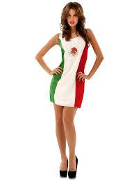 woman u0027s mexican flag costume