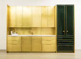 brass u0026 hunter green is a fabulous duo this brass kitchen