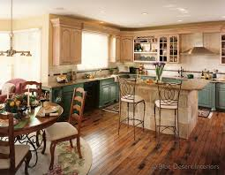 kitchen design island with cabinets on both sides french country