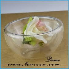 half round glass terrarium globe sitting on table top buy glass