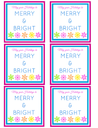 merry u0026 bright free printable gift tag