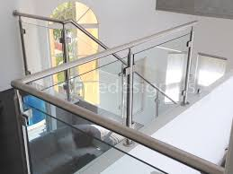 glass and steel staircase railing home design