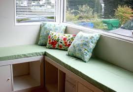 Banquette Seating Ideas Small Rustic Breakfast Nook Table With Cross X Legs Bench Seat And