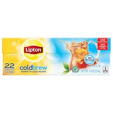 amazon tea amazon com lipton cold brew family sized black iced tea bags