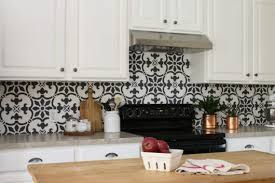 kitchen backsplash how to stencil a kitchen backsplash using a tile pattern stencil