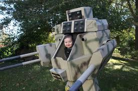ultimate halloween costume puts father u0026 son inside mechwarrior