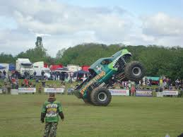monster truck stunt show clutter chaos aaron u0026co truck show oswestry