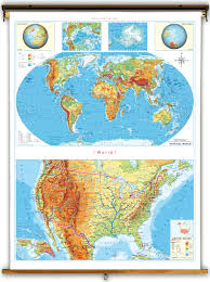 Physical Maps Klett Perthes Economy Stacked United States U0026 World Physical Map
