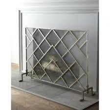 modern fireplace screen black pleasant hearth steel bar grate