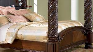 4 post bed ashley north shore poster bed bedroom youtube