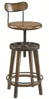 architect desk and adjustable swivel stool by hammary wolf and