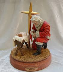 santa kneeling at the manger gaye frances willard portrait artist every knee shall bow