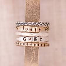 stackable engraved rings personalized stacking rings my style ring