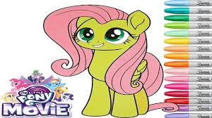 my little pony movie coloring book fluttershy rainbow splash youtube