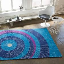 Purple Carpets Eccentric Large Area Rug In Blue And Purple By Not Neutral