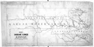 Michigan Indian Tribes Map map of indian lands in kansas kansas memory kansas historical
