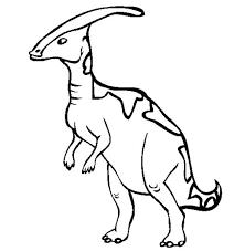 parasaurolophus late cretaceous period dinosaur coloring