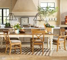 pottery barn farm dining table kitchen table love the french white legs there are chairs that